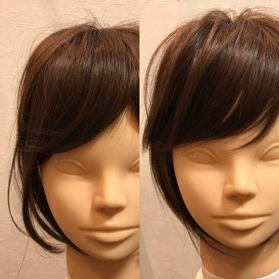 Wigを似合わせるとは。